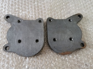 Weld-on MK1 Caddy Pickup Axle End Plates, for MK4 Disc Brakes