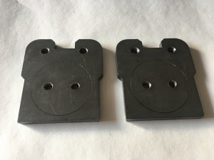 Weld-on MK1 Caddy pickup Axle End Plates, for Disc Brakes