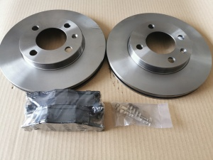 MK1 Caddy GTI Brake Discs & Pads upgrade