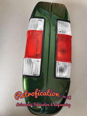VW Caddy MK1 Rear ''Clear-Red-Clear'' Tail Lights (Pair of)